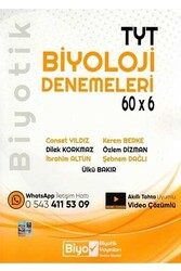 Biyotik Yayınları - Biyotik Yayınları TYT Biyoloji 60×6 Denemeleri