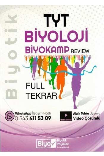 Biyotik Yayınları TYT Biyoloji Full Tekrar Biyokamp