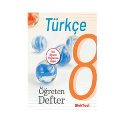 Bloktest Yayınları - Bloktest Yayınları 8. Sınıf Türkçe Öğreten Defter