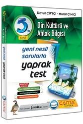 Çanta Yayınları - Çanta Yayınları 5. Sınıf Din Kültürü ve Ahlak Bilgisi Yaprak Test