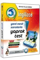 Çanta Yayınları - Çanta Yayınları 5. Sınıf İngilizce Yaprak Test