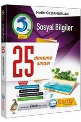 Çanta Yayınları - Çanta Yayınları 5. Sınıf Sosyal Bilgiler 25 Deneme