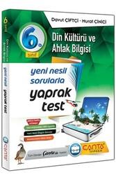 Çanta Yayınları - Çanta Yayınları 6. Sınıf Din Kültürü ve Ahlak Bilgisi Yaprak Test