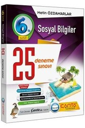 Çanta Yayınları - Çanta Yayınları 6. Sınıf Sosyal Bilgiler 25 Deneme