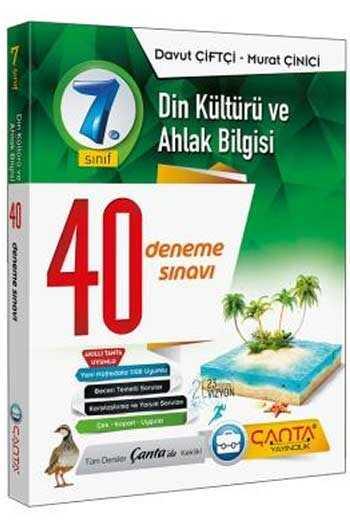Çanta Yayınları 7. Sınıf Din Kültürü ve Ahlak Bilgisi 40 Deneme