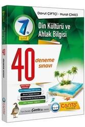 Çanta Yayınları - Çanta Yayınları 7. Sınıf Din Kültürü ve Ahlak Bilgisi 40 Deneme