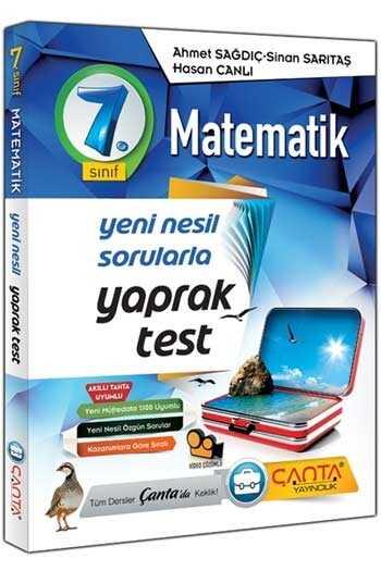 Çanta Yayınları 7. Sınıf Matematik Yaprak Test