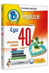 Çanta Yayınları - Çanta Yayınları 8. Sınıf LGS İngilizce 40 Deneme Sınavı