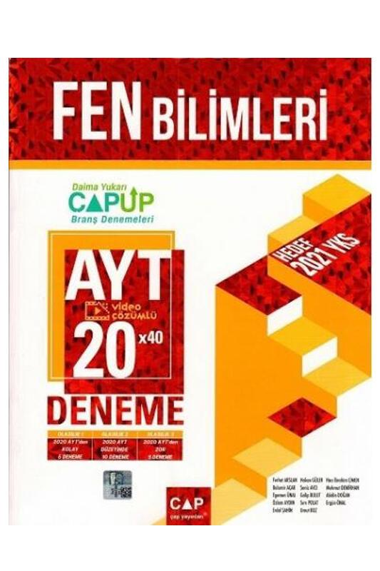 Çap Yayınları AYT Fen Bilimleri 20 x 40 Up Deneme