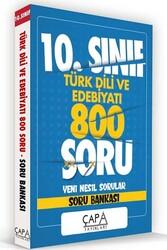 Çapa Yayınları - Çapa Yayınları 10. Sınıf Türk Dili ve Edebiyatı Soru Bankası