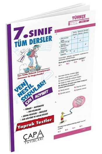 Çapa Yayınları 7. Sınıf Tüm Dersler Yaprak Test
