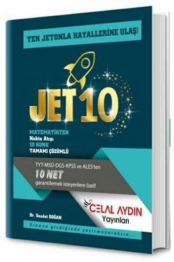 Celal Aydın Yayınları TYT KPSS ALES DGS MSÜ Matematik Jet 10 Konu Özetli Soru Bankası