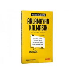 Çözüm Yayınları - Çözüm Yayınları YKS DGS ALES KPSS Anlamayan Kalmasın Anlam ve Paragraf Soru Kitabı