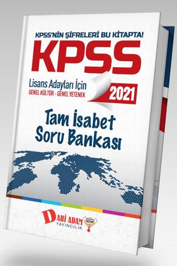 Dahi Adam Yayınları 2021 KPSS Genel Kültür Genel Yetenek Tam İsabet Soru Bankası