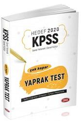 Data Yayınları - Data Yayınları 2020 KPSS Genel Yetenek Genel Kültür Çek Kopar Yaprak Test