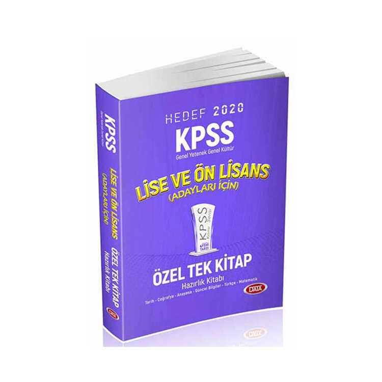 Data Yayınları 2020 KPSS Lise Ön Lisans GY GK Konu Anlatımlı Özel Tek Kitap