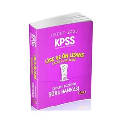Data Yayınları - Data Yayınları 2020 KPSS Lise ve Önlisans Adayları İçin Tamamı Çözümlü Soru Bankası