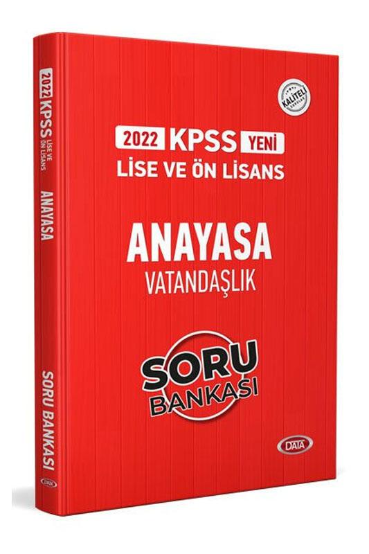Data Yayınları 2022 KPSS Lise Ön Lisans Anayasa Vatandaşlık Soru Bankası