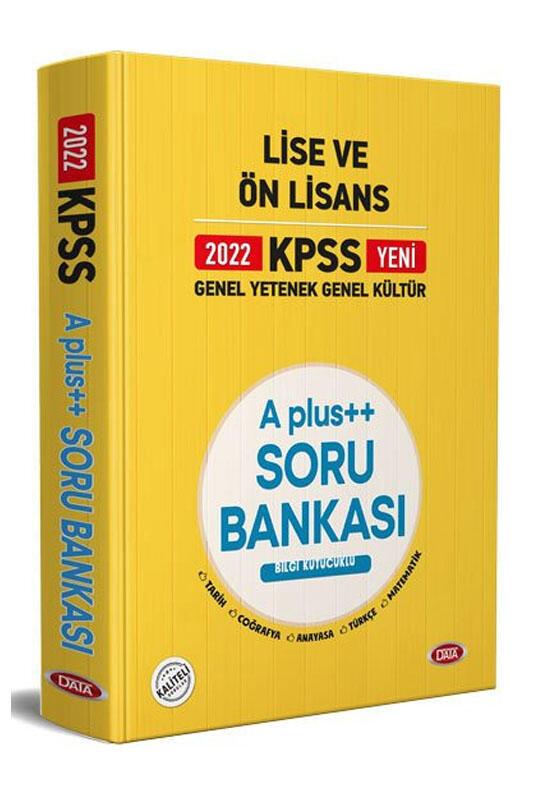 Data Yayınları Data Yayınları KPSS Lise ve Ön Lisans A Plus++ Soru Bankası