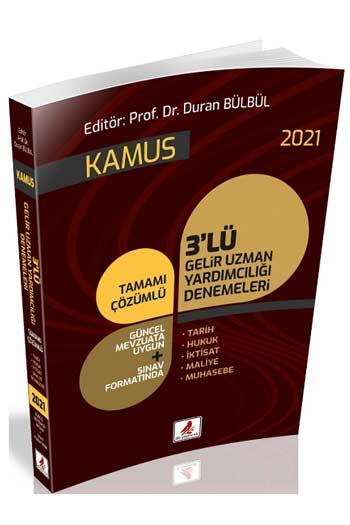 DB Yayıncılık 2021 GUY Gelir Uzman Yardımcılığı Kamus 3 Deneme