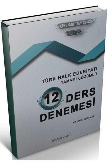 Destek Kariyer Yayınları 2021 ÖABT Türk Dili Edebiyatı Türk Halk Edebiyatı Çözümlü 12 Deneme