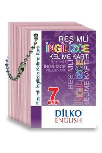 Dilko Yayıncılık 7. Sınıf Resimli İngilizce Kelime Kartı