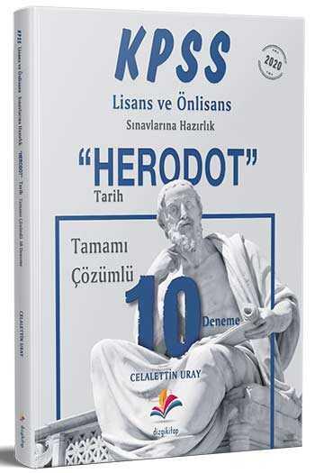 Dizgi Kitap 2020 KPSS Lisans Önlisans Herodot Tarih Tamamı Çözümlü 10 Deneme