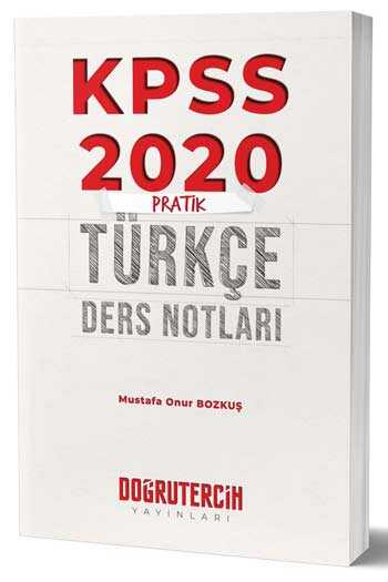 Doğru Tercih Yayınları 2020 KPSS Pratik Türkçe Ders Notları