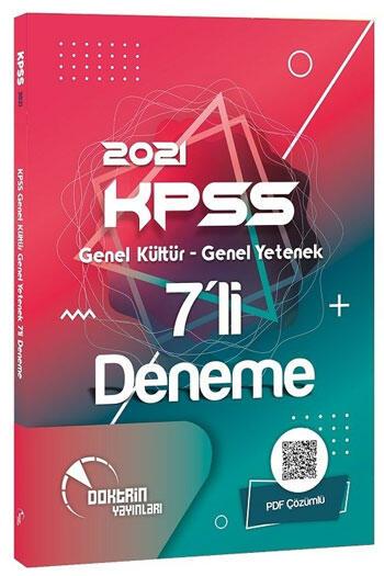 Doktrin Yayınları 2021 KPSS Genel Yetenek Genel Kültür PDF Çözümlü 7 Deneme