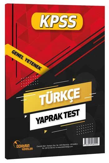 Doktrin Yayınları 2021 KPSS Türkçe Yaprak Test