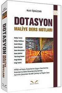 Dotasyon Maliye Ders Notları Halil İşgüzar İkinci Sayfa Yayınları