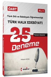 Edebiyat TV Yayınları - Edebiyat TV Yayınları 2020 ÖABT Türk Dili ve Edebiyatı Öğretmenliği Türk Halk Edebiyatı Çözümlü 25 Deneme