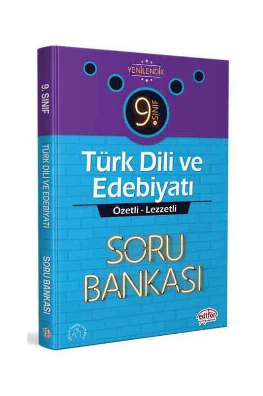 Editör Yayınevi 9.Sınıf Türk Dili ve Edebiyatı Soru Bankası