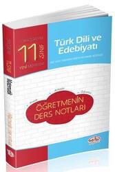 Editör Yayınevi - Editör Yayınları 11. Sınıf Türk Dili ve Edebiyatı Öğretmenin Ders Notları