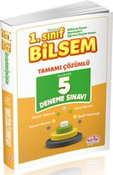 Editör Yayınevi - Editör Yayınları 1.Sınıf Bilsem Tamamı Çözümlü 5 Deneme Sınavı