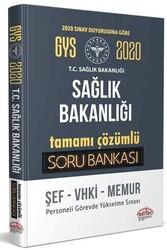 Editör Yayınevi - Editör Yayınları 2020 GYS Sağlık Bakanlığı ve Bağlı Kuruluşları Tamamı Çözümlü Soru Bankası