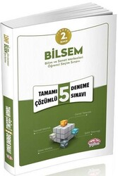 Editör Yayınevi - Editör Yayınları 2.Sınıf Bilsem 5 Çözümlü Deneme Sınavı
