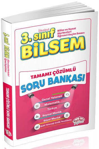 Editör Yayınları 3. Sınıf Bilsem Tamamı Çözümlü Soru Bankası