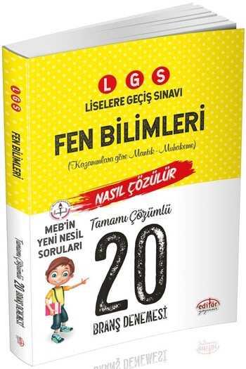 Editör Yayınları LGS Fen Bilimleri 20 Deneme Sınavı