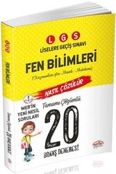 Editör Yayınevi - Editör Yayınları LGS Fen Bilimleri 20 Deneme Sınavı