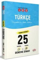 Editör Yayınevi - Editör Yayınları LGS Türkçe Tamamı Çözümlü 25 Deneme Sınavı