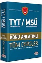 Editör Yayınevi - Editör Yayınları TYT MSÜ Tüm Dersler Konu Anlatımlı