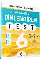 Eker Test Yayınları - Eker Test Yayınları 6.Sınıf Din Kültürü ve Ahlak Bilgisi Dinlendiren Test