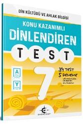 Eker Test Yayınları - Eker Test Yayınları 7.Sınıf Din Kültürü ve Ahlak Bilgisi Dinlendiren Test
