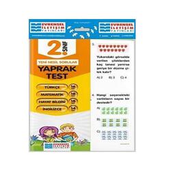 Evrensel İletişim Yayınları - Evrensel İletişim Yayınları 2. Sınıf Tüm Dersler Yaprak Test