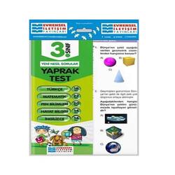 Evrensel İletişim Yayınları - Evrensel İletişim Yayınları 3. Sınıf Tüm Dersler Yaprak Testler
