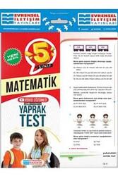 Evrensel İletişim Yayınları - Evrensel İletişim Yayınları 5. Sınıf Matematik Yeni Nesil Video Çözümlü Yaprak Test