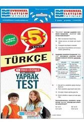 Evrensel İletişim Yayınları - Evrensel İletişim Yayınları 5. Sınıf Türkçe Yeni Nesil Video Çözümlü Yaprak Test
