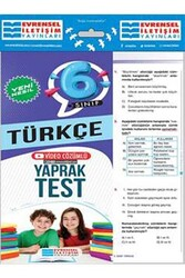 Evrensel İletişim Yayınları - Evrensel İletişim Yayınları 6. Sınıf Türkçe Yeni Nesil Video Çözümlü Yaprak Test