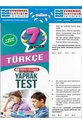 Evrensel İletişim Yayınları - Evrensel İletişim Yayınları 7. Sınıf Türkçe Yeni Nesil Video Çözümlü Yaprak Test